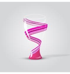 Modern empty glass vase vector