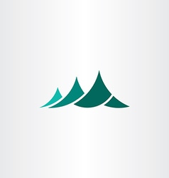 Mountain symbol logo element sign vector