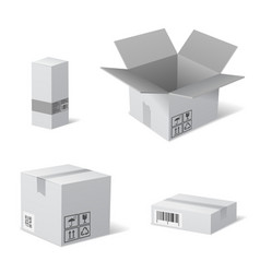 Packaging Boxes vector image vector image