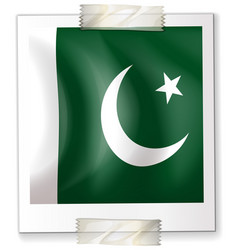 Pakistan flag on paper vector