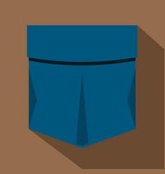 Pocket symbol icon flat style vector