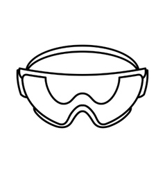 Safety glasses icon outline style vector