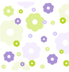 Seamless floral pattern wallpaper vector image vector image