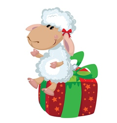 sheep on the box vector image vector image