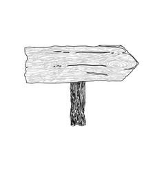 Sign wooden wood arrow vector
