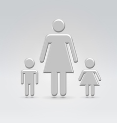 stick mom with children vector image