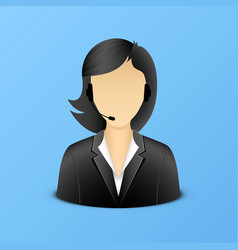 Support woman assistant icon vector