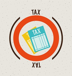 tax design vector image