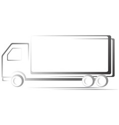 transport icon with truck vector image