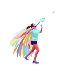 Unusual colorful triangle athlete geometric vector