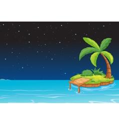 an island vector image