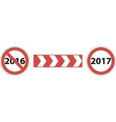 Road sign beginning of 2017 vector