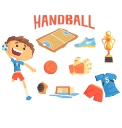 Boy handball player kids future dream vector
