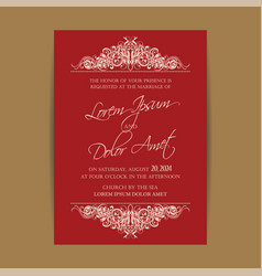 Wedding invitation floral backgroundl vector