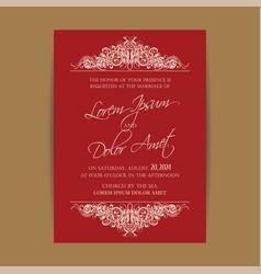 wedding invitation floral backgroundl vector image
