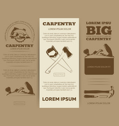 Carpentry tools brochure vector