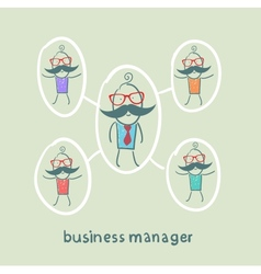 Business manager and his staff vector