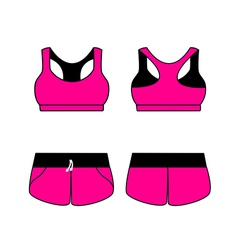 womens sport underwear Bra and shorts vector image