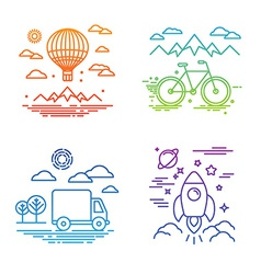 Travel and transportation concepts vector