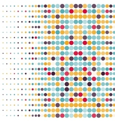 Background with the colored circles in a vector
