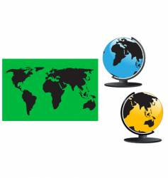 Map and globes vector