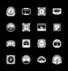 Set icons of meter vector
