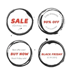 Black friday badges set vector