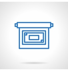 Projector screen icon simple line style vector