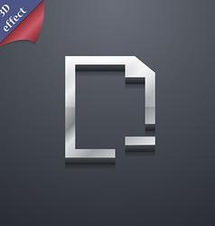 Remove Folder icon symbol 3D style Trendy modern vector image