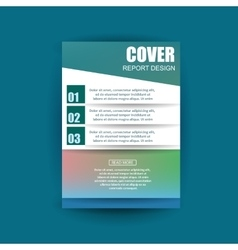 A4 cover annual flyer report business vector