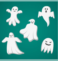 A set of cast for halloween vector