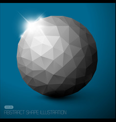 abstract sphere background vector image vector image