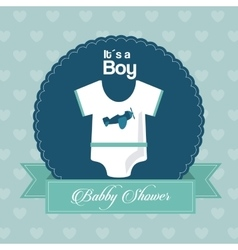 Baby shower design cloth icon blue vector