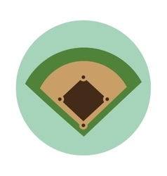 Baseball camp diamond icon vector