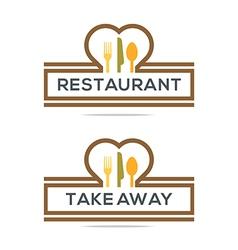Besteck Love Kitchen Set Utensils Restaurant vector image