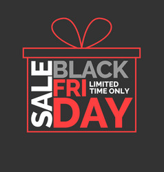 Black friday big sales trendy modern poster to vector
