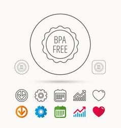 bpa free icon bisphenol plastic sign vector image