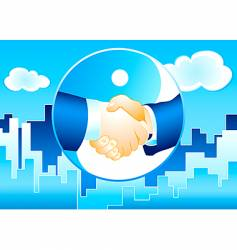 business deal background vector image vector image