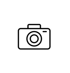 camera icon thin line black on white background vector image