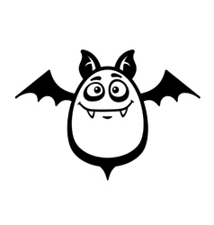 Cartoon Style Smiling Bat on White Background vector image vector image