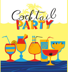 Cocktail party holiday invitation background with vector