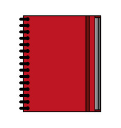color image notebook spiral closed vector image vector image