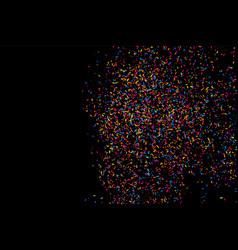 Colorful explosion of confetti colored grainy vector