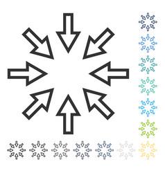 Compact arrows icon vector