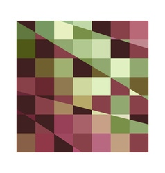 Deep tuscan red purple and green abstract low vector