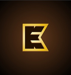 E and K letters monogram vector image vector image