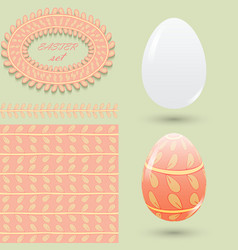 easter set clean and colored eggs seamless vector image vector image
