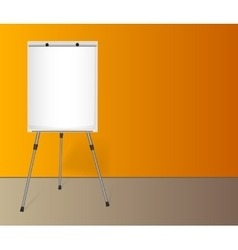 Flip chart with a blank sheet of paper near vector image