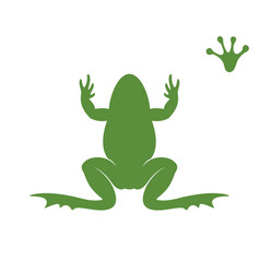 frog silhouette abstract frog on white vector image