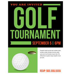Golf tournament flyer invitation vector